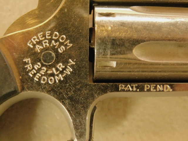View 3~FREEDOM ARMS REVOLVER, 22 CAL, NO MODEL #
