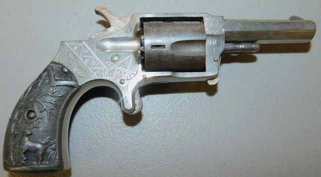 View 2~NORWICH ARMS CO. REVOLVER, PTD. 4-23-1878, UNK. SN. or CAL.