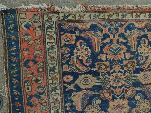 "VIEW 2~ VINTAGE 40x65"" WOVEN ORIENTAL RUG"