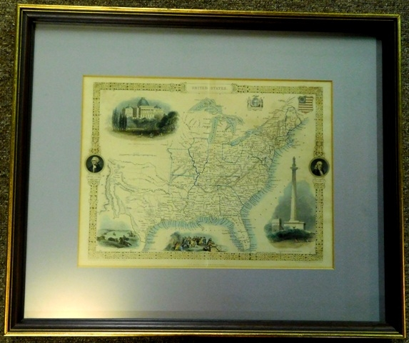 "FR-MATTED MAP: ""U.S."" The Illustrations by J. Marchant & Engraved by J. Rogers..."