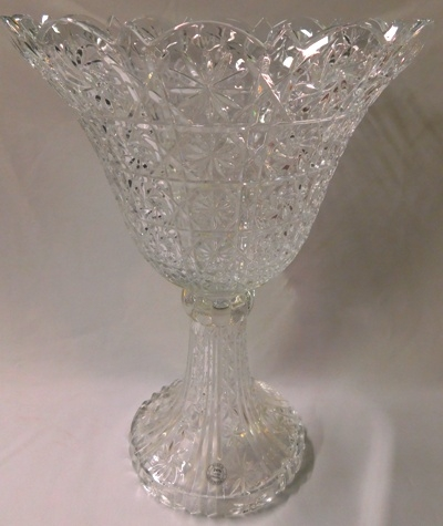 TOWLE LEAD CRYSTAL FOOTED CENTERPIECE