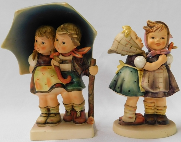 GOEBEL FIGURINES: 71-Stormy Weather + 196/9, 1948 Telling Her Secret
