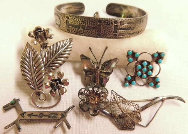 COLLECTION MISC. STERLING & 800 JEWELRY