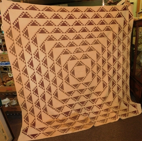 1871 HANDMADE QUILT GIVEN AS MARRIAGE GIFT, PASSED DOWN...