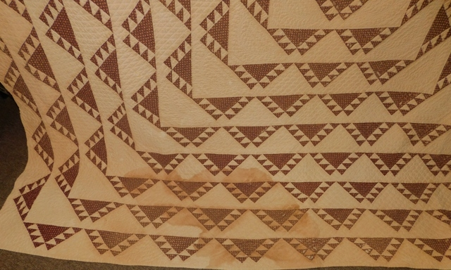 View 2~1871 HANDMADE QUILT GIVEN AS MARRIAGE GIFT