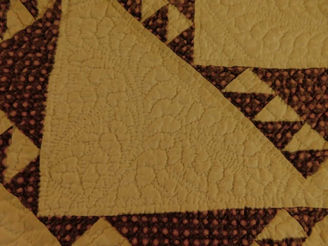 View 3~ 1871 HANDMADE QUILT GIVEN AS MARRIAGE GIFT