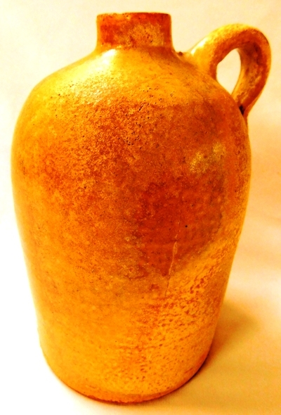 "View 2~ MEYER TEXAS POTTERY 8-1/2"" JUG"