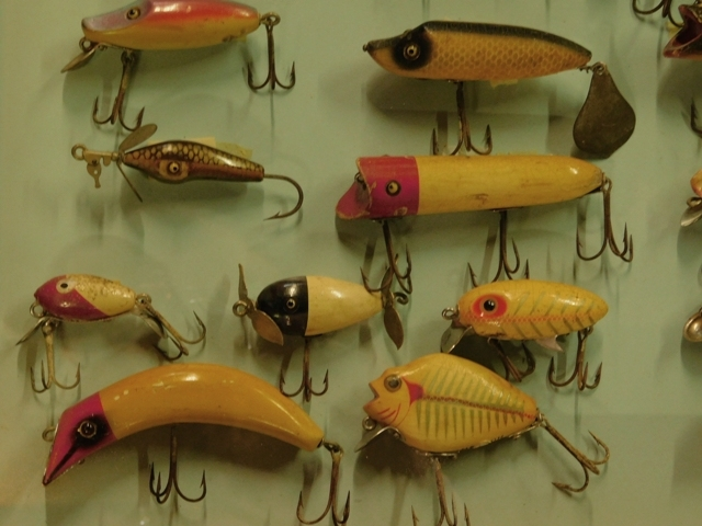 View 2 ~ FRAMED FISHING LURES