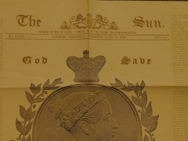 "View 3~""The History of The Coronation"" + Facsimile Newspaper from 1838"