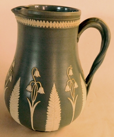 "7"" PITCHER ATTRIBUTED TO DUDSON, BRITISH POTTERY, C.1860"