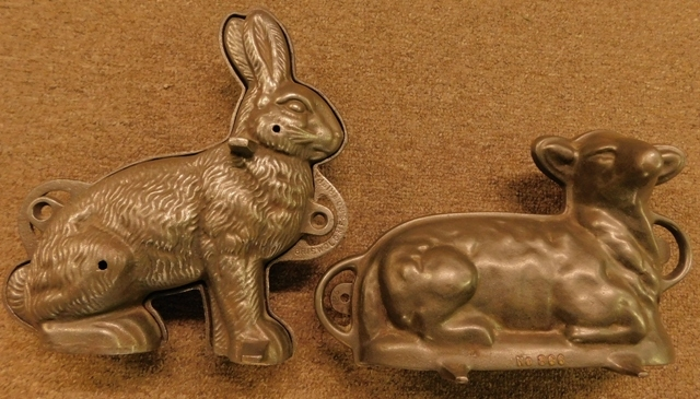 GRISWOLD BUNNY & NO. 888 LAMB CAKE MOLDS