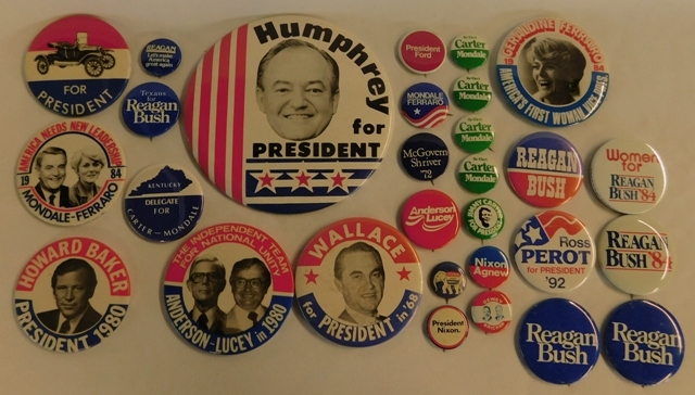 OLD & NEW POLITICAL BUTTON COLLECTION
