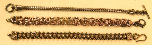 STERLING SILVER BRACLETS