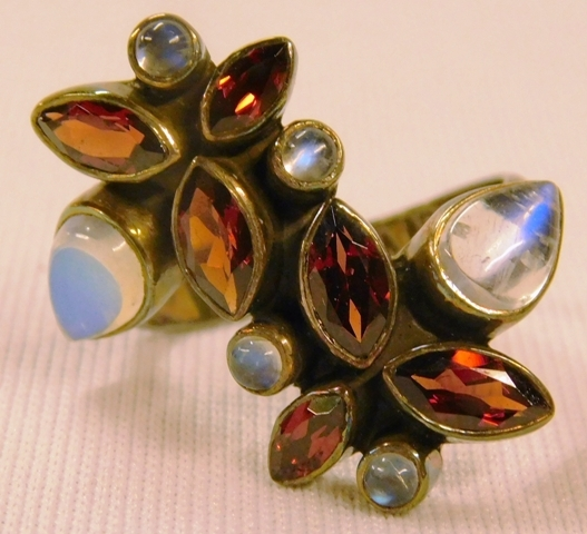 STERLING SILVER RING W/COLORED STONES BY NICKY BUTLER