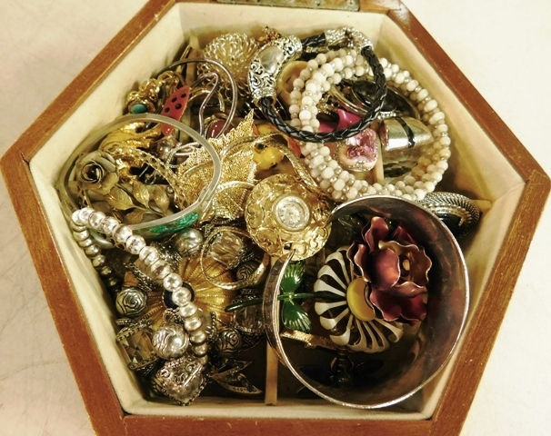 Box with Costume Jewelry