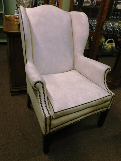 WINGBACK ARM CHAIR, TACK TRIM