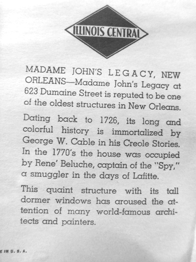 """#3~ FRAMED NEW ORLEANS PRINTS  """"440 CHARTRES ST."""" DATING TO 1788 and """"MADAM JOHN'S"""" DATING TO 1726"""