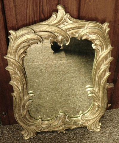 ORNATE GOLD FRAME DRESSING TABLE MIRROR