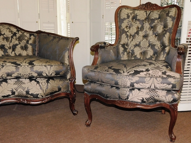 HIGHBACK CHAIR, SIMILAR TO SOFA & LOW BACK CHAIR