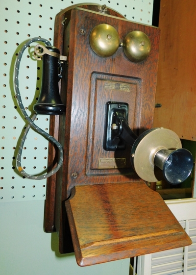 SUMTER TELEPHONE MFG. CO. OAK WALL PHONE, TOTALLY ORIGINAL