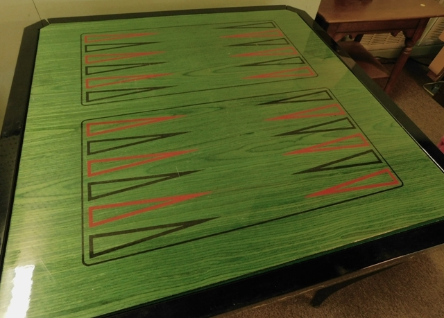 #3~ITALIAN SORRENTO MARQUETRY GAME TABLE
