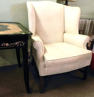CHIPPENDALE WING-BACK ARM CHAIR