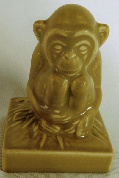 "ROOKWOOD 4-1/2"" MONKEY FIGURINE, XXXV, 6426"