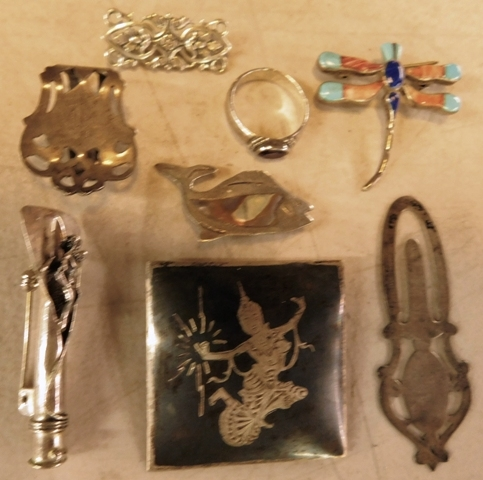 BOX-STERLING JEWELRY, ETC