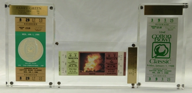 A&M COTTON BOWL FOOTBALL TICKETS (1985, 1986, 1988)