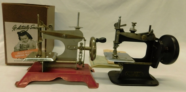 HOGUE BRAND CHAIN DRIVEN TOY SEWING MACHINE AND...