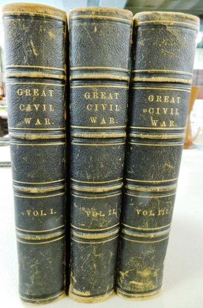 "3 VOLUMES ""GREAT CIVIL WAR"" A History of the Late Rebellion"