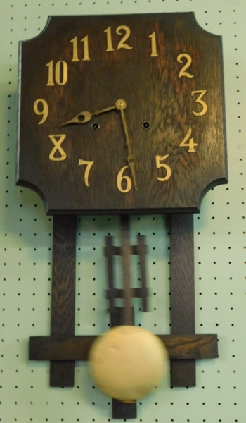 OAK MISSION STYLE WALL CLOCK