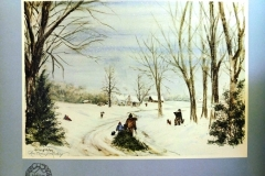 """""""Holiday Memories"""" signed print by Rose Marie Lindsay, 1982"""