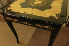 "ITALIAN SORRENTO MARQUETRY GAME TABLE, 31"" SQ..."