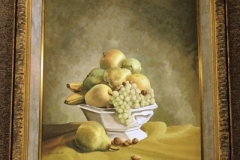 "FRAMED OIL ON CANVAS, FRUIT STILL LIFE, SIGNED ""ROWELL"""