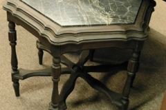 """HEXAGON 20""""TALL TABLE, BLACK MARBLE INSET, C. 1930'S"""