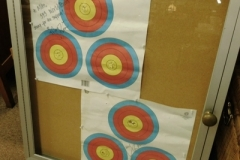 ARCHERY TARGETS BY MARY ZORN REPRESENTING THE 593 WORLD RECORD  GIVEN TO MIKE McKENZIE