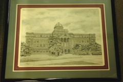 "Signed/Mat/Fr Print ""THE ACADEMIC BUILDING""By E. J. Besselman"