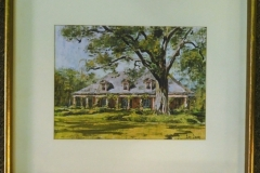"Fr/Mat Print ""Elmwood Plantation Restaurant"" in New Orleans, La."