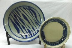 ISHMAEL SOTO BLUE DECORATED DISHES