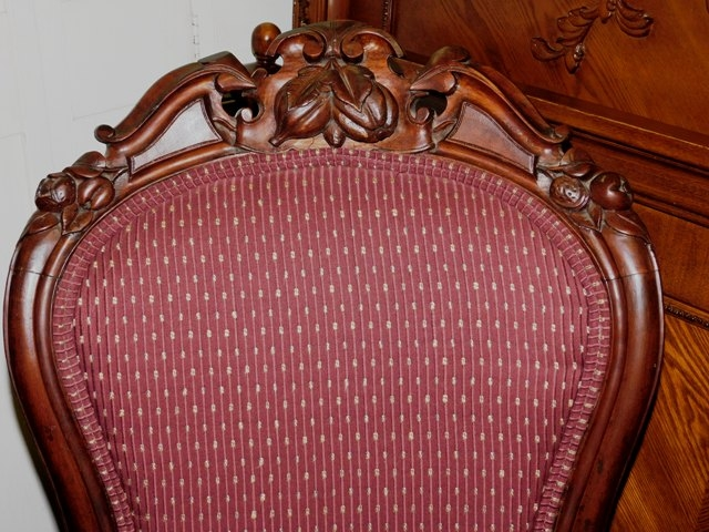 #2~LATE 1800'S WALNUT VICTORIAN ARM CHAIR