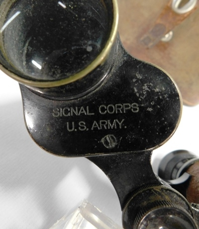View 2~US ARMY, WW2, SIGNAL CORPS-BAUCH & LOMB BINOCULARS & CASE