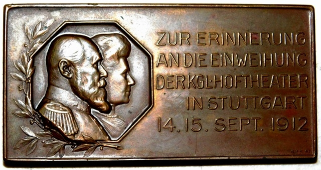 "IMPERIAL GERMAN COPPER PLATE (1-1/2X3""), 1912"