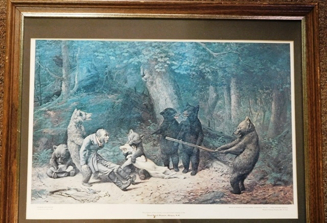 THE BEARS & HUNTER PRINT By W.H.Beard, 1880