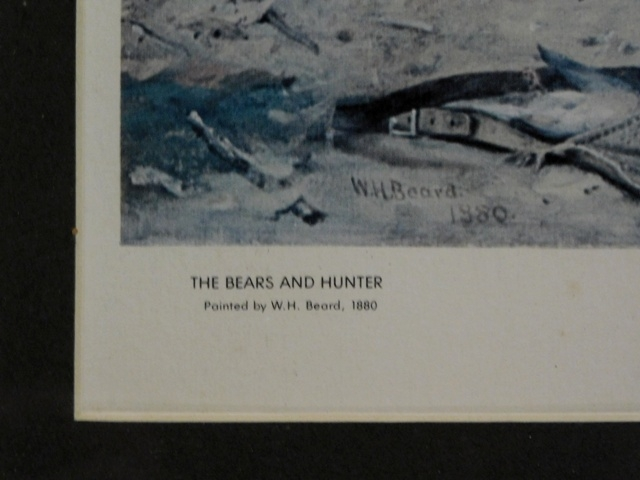 View 2~THE BEARS & HUNTER PRINT By W.H.Beard, 1880