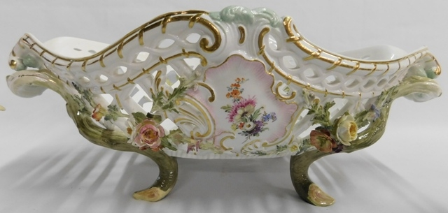 MINTON OVAL FOOTED, PIERCED COMPOTE (Not Perfect