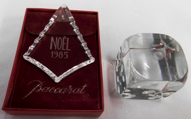 BACARRAT DICE + 1985 ORNAMENT