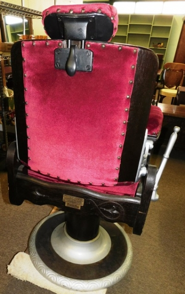 View 4~1911 CONGRESS HYDRAULIC CHAIR BY KOOKEN BARBER SUPPLY CO NO. 210
