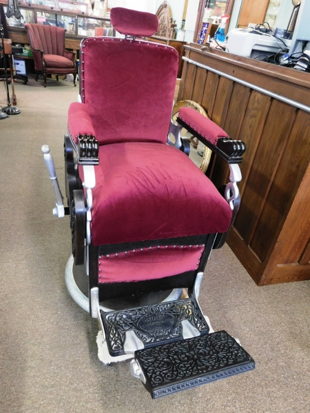1911 CONGRESS HYDRAULIC CHAIR BY KOOKEN BARBER SUPPLY CO NO. 210