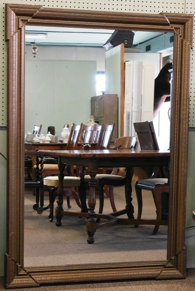 "1930's GESSO OVER WOOD GILT MIRROR, 5'3""x3'9""'"